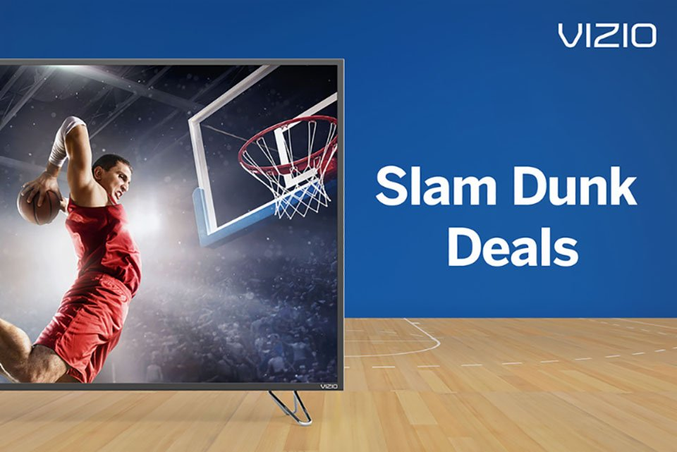 "Vizio March Madness ""Slam Dunk"" 4K TV & Display Deals"