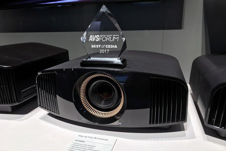 VPL-VW385ES with AVS Forum Best of CEDIA 2017 Award