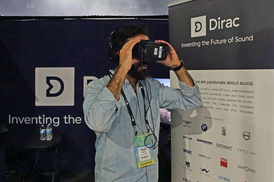 Dirac VR Headphone Virtualization at VRLA 2018