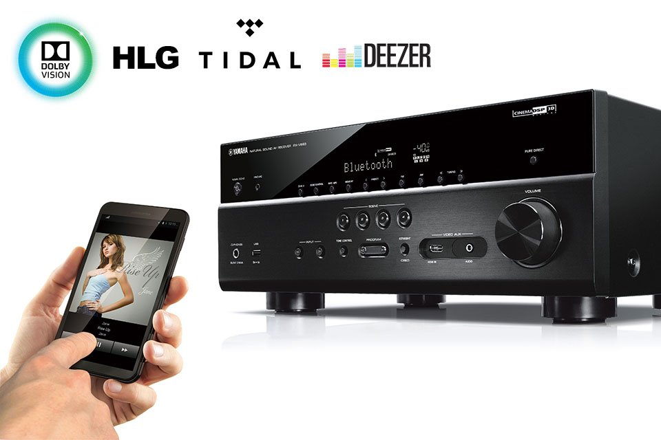 Yamaha Firmware Update for Dolby Vision and HLG HDR and Tidal and Deezer