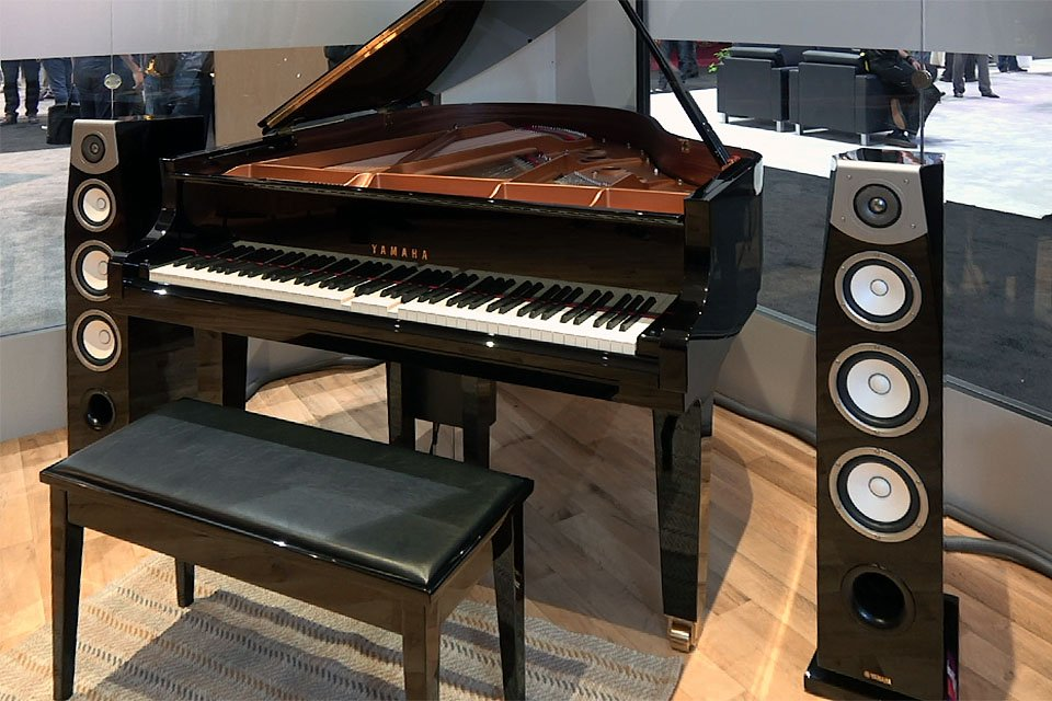 Yamaha MusicCast Disklavier Enspire Reproducing Piano Alexa Demo