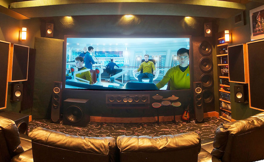 Exceptional Like Most DIY Home Theaters, This Was A Labor Of Love For Its Owner, Who  Built Almost Everything Himself, Including The Subs And Screen.