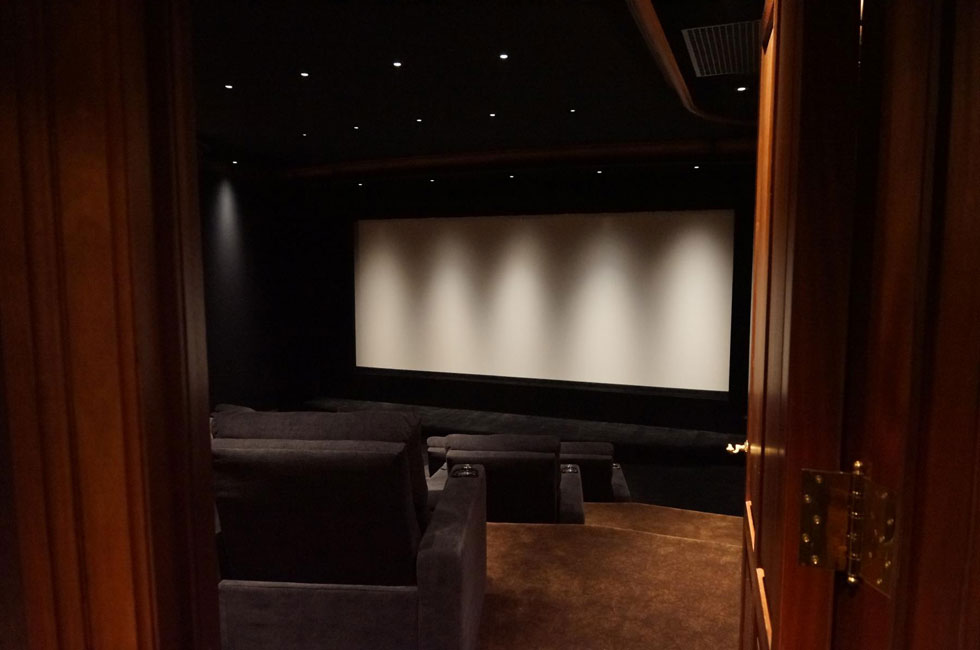 Home Theater of the Month: The Hahn Theater - Keith Yates Design on home theater screen wall design, home theater sunken ship, home theater star wars, home theater man cave decor,