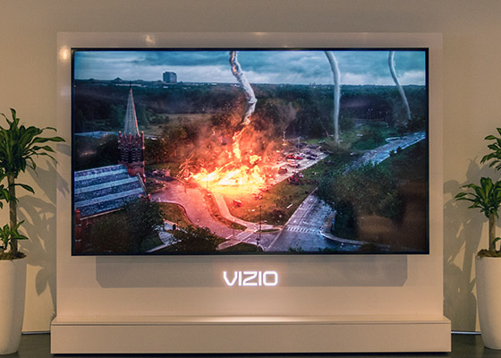 vizio tv 2015. vizio aims for the top with reference series, a pair of hdr fald-lcd displays that are first to support dolby vision. tv 2015