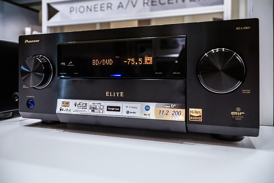 Pioneer Elite SC-LX901 AVR with 11 amplifiers Demo at CEDIA 2016