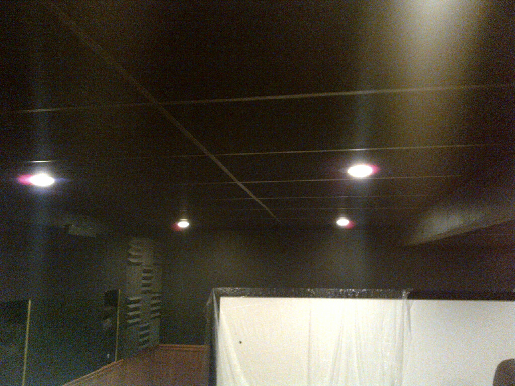 Black Ceiling Tiles And Grid Avs Forum Home Theater Discussions