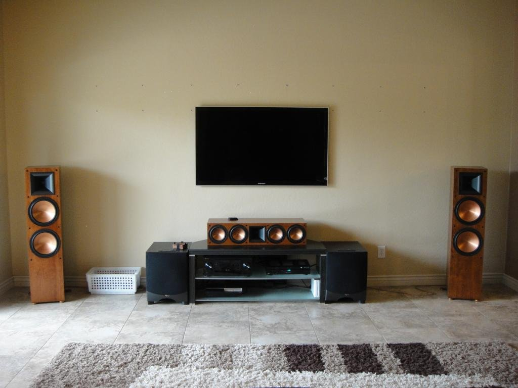 Done Deals Contemporary Living Room Home Theater Build