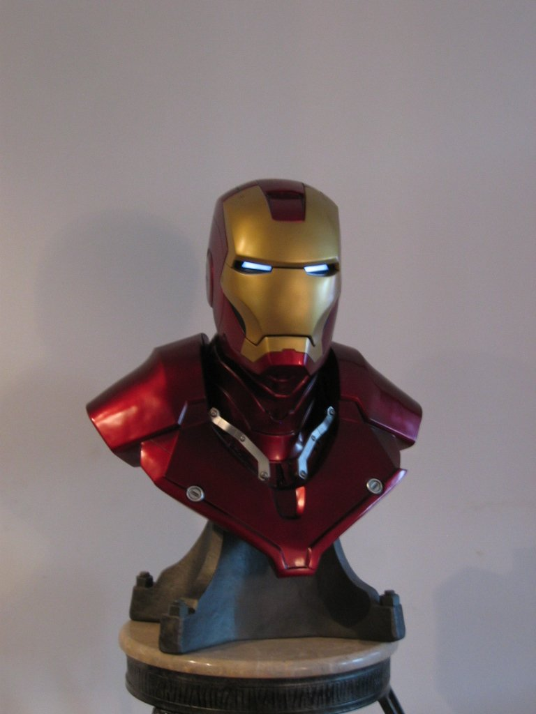 my 1:1 scale bust of Iron Man