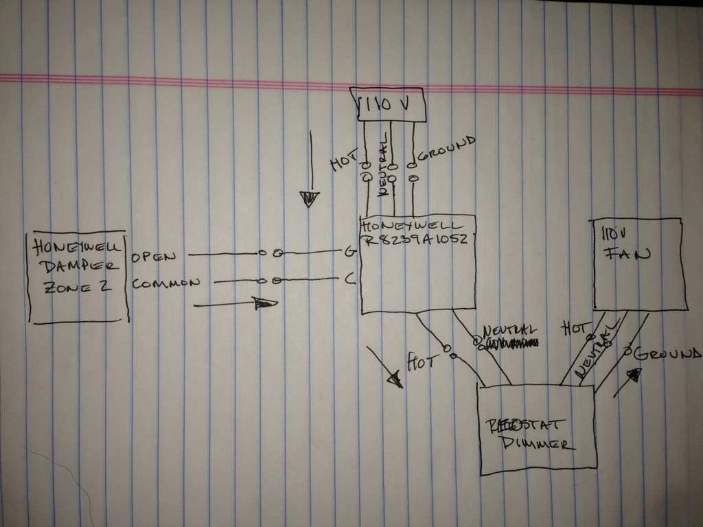 Hvac relay question avs forum home theater discussions and reviews heres a diagram of the wiring that my contractor gave me he says that the relay clicks when the thermostat turns on but no power leaves the honeywell asfbconference2016 Choice Image
