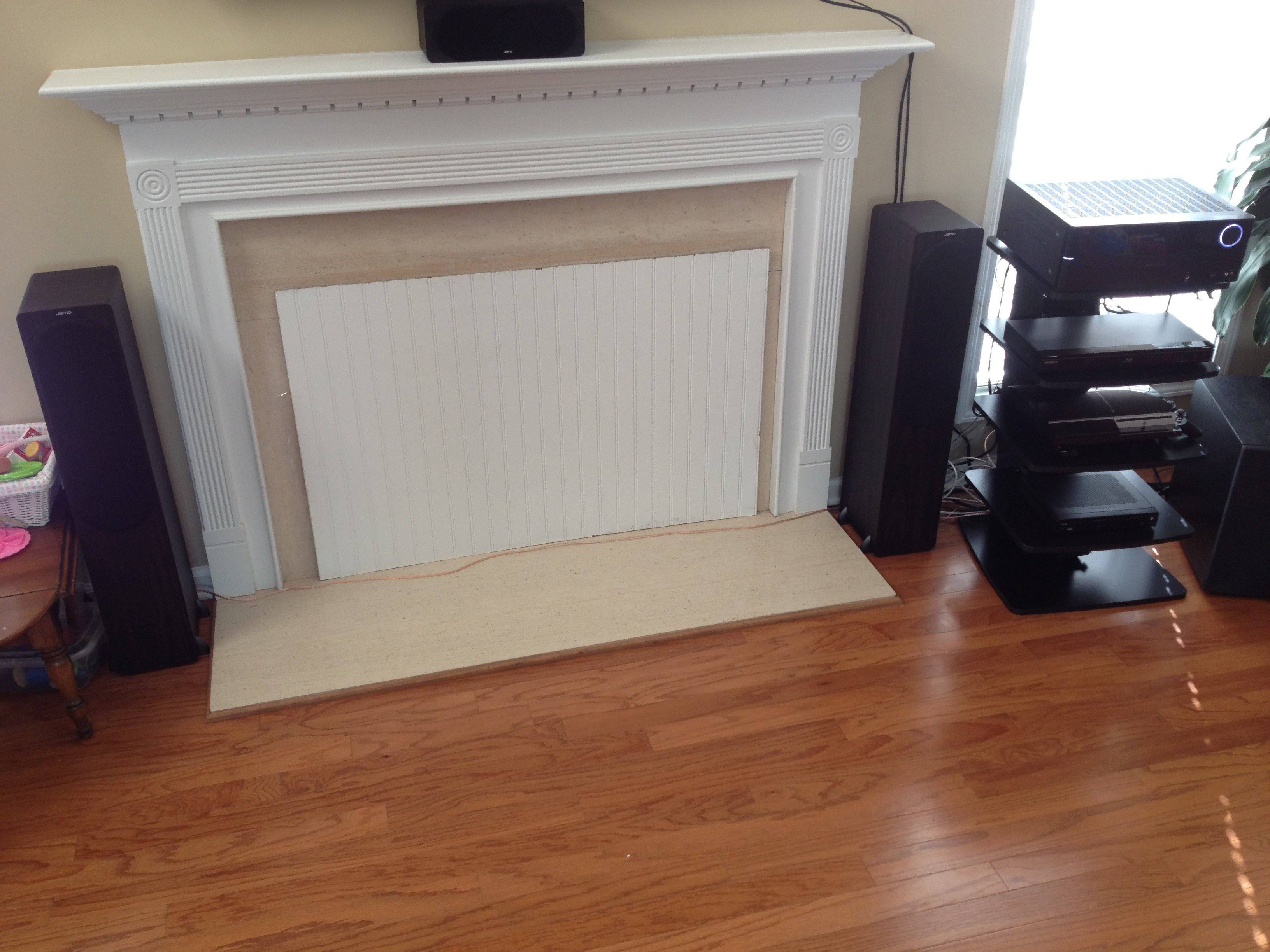 Any suggestions on hiding my speaker cable that runs in front of my ...