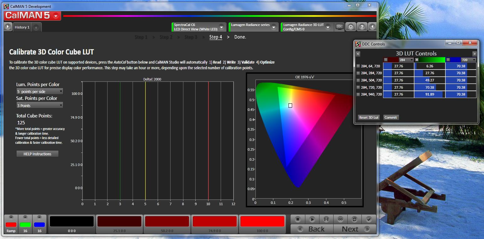 Radiance 3D LUT (5x5x5 Cube) Calibration with CalMAN 5 - AVS Forum