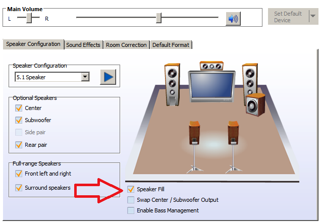 Wait wait check this are you using realtek hd audio manager or