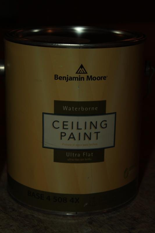 Wonderful So I Painted The Ceiling A Few Days Ago With Benjamin Moore 508 Ceiling  Paint In Jet Black