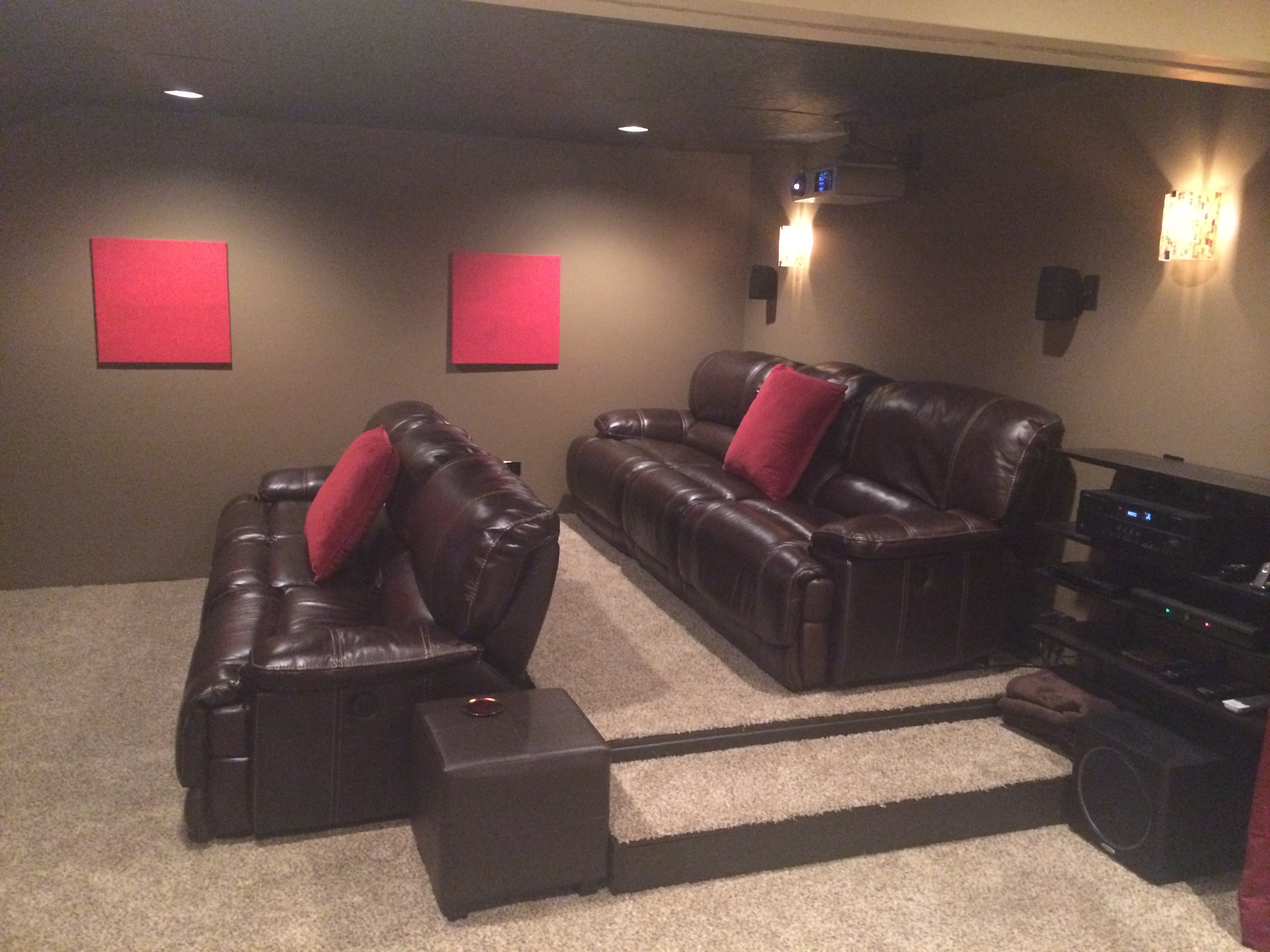 Finished My Basement u0026 Home Theater - AVS Forum | Home Theater Discussions And Reviews : st malo sectional - Sectionals, Sofas & Couches