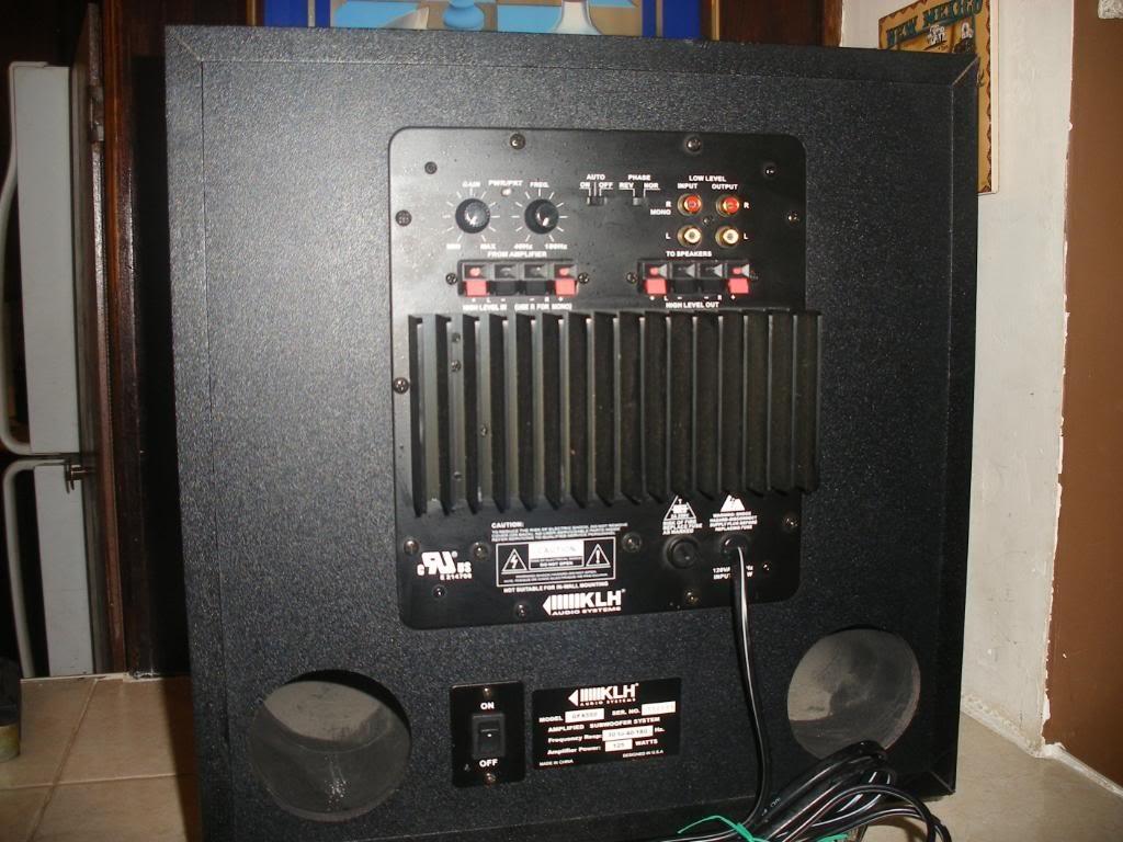 klh surround sound wiring diagram arbortech us rh arbortech us KLH Subwoofer Speakers KLH Subwoofer Hook Up