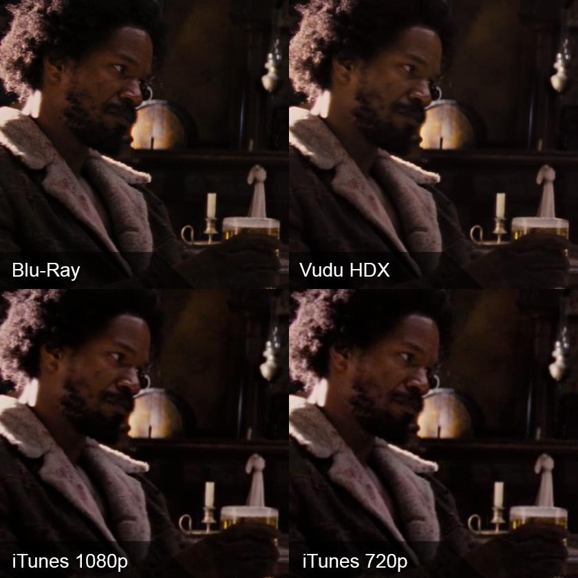 Django Unchained: Blu-ray vs  iTunes vs  Vudu HDX - AVS