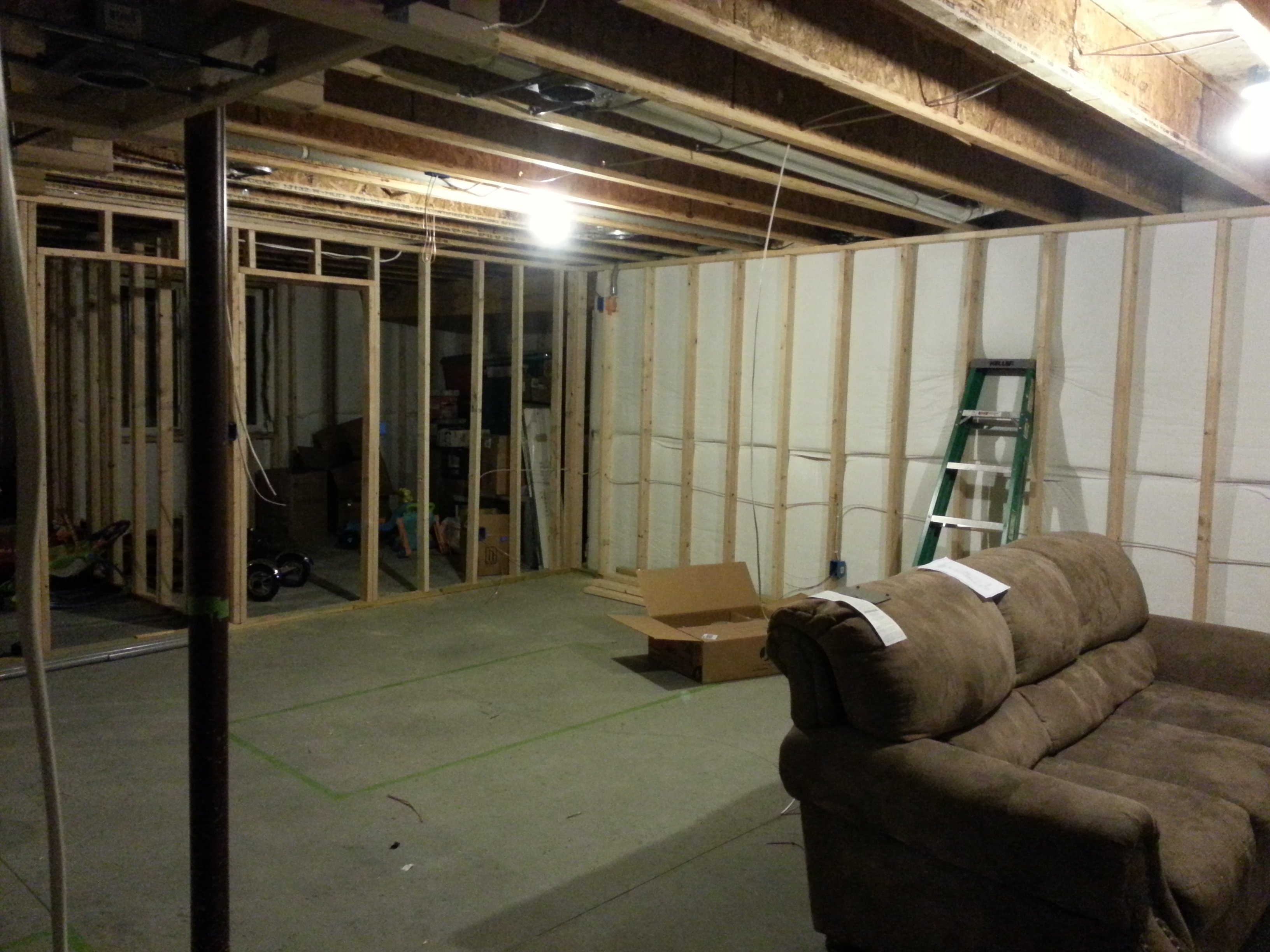 Installing New Cat5e Cat6 In Basement Avs Forum Home Theater Wiring Unfinished Electrical Diy Chatroom Av Rack On The Far Right Under Stairs Main Tv Will Be Wall Left