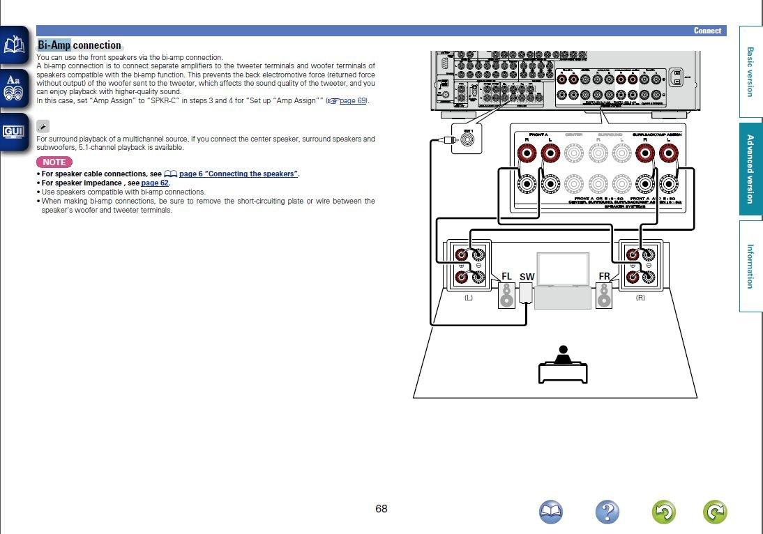 Marantz Sr5006 Sr6006 Receiver Thread Page 42 Avs Bi Wiring Speakers Diagram I Have The Def Tech 8020st L R 8040cs Center And 4 Promontors Sl Sr Fhl Fhr After Finally Setting It Up Running Thru Audyssey