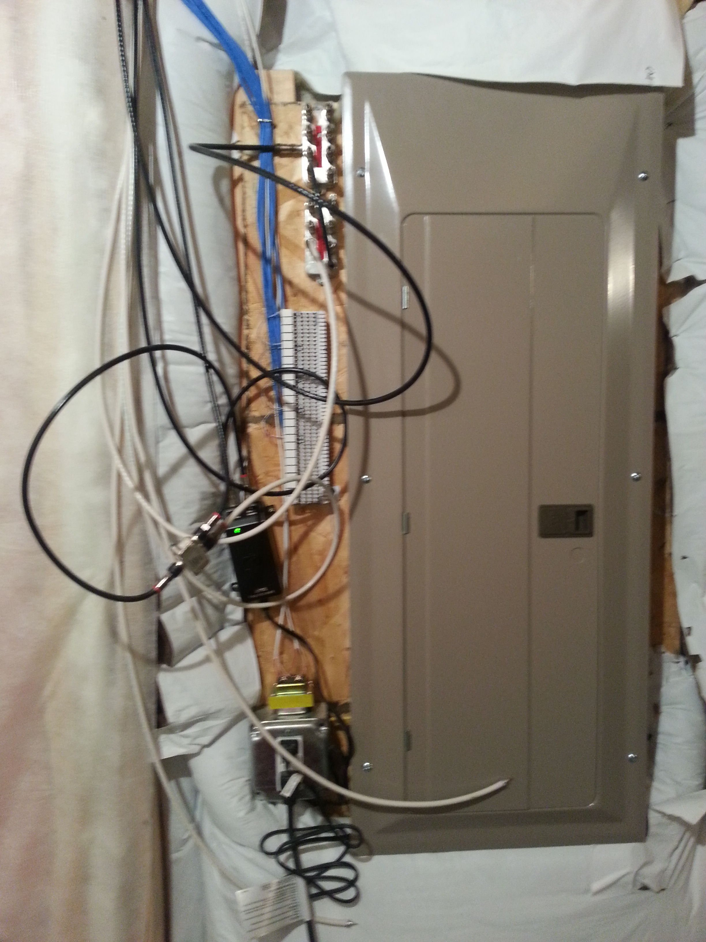 installing new cat5e cat6 in basement avs forum home theater rh avsforum com Basement Wiring for Lighting Wiring a Dryer in the Basement