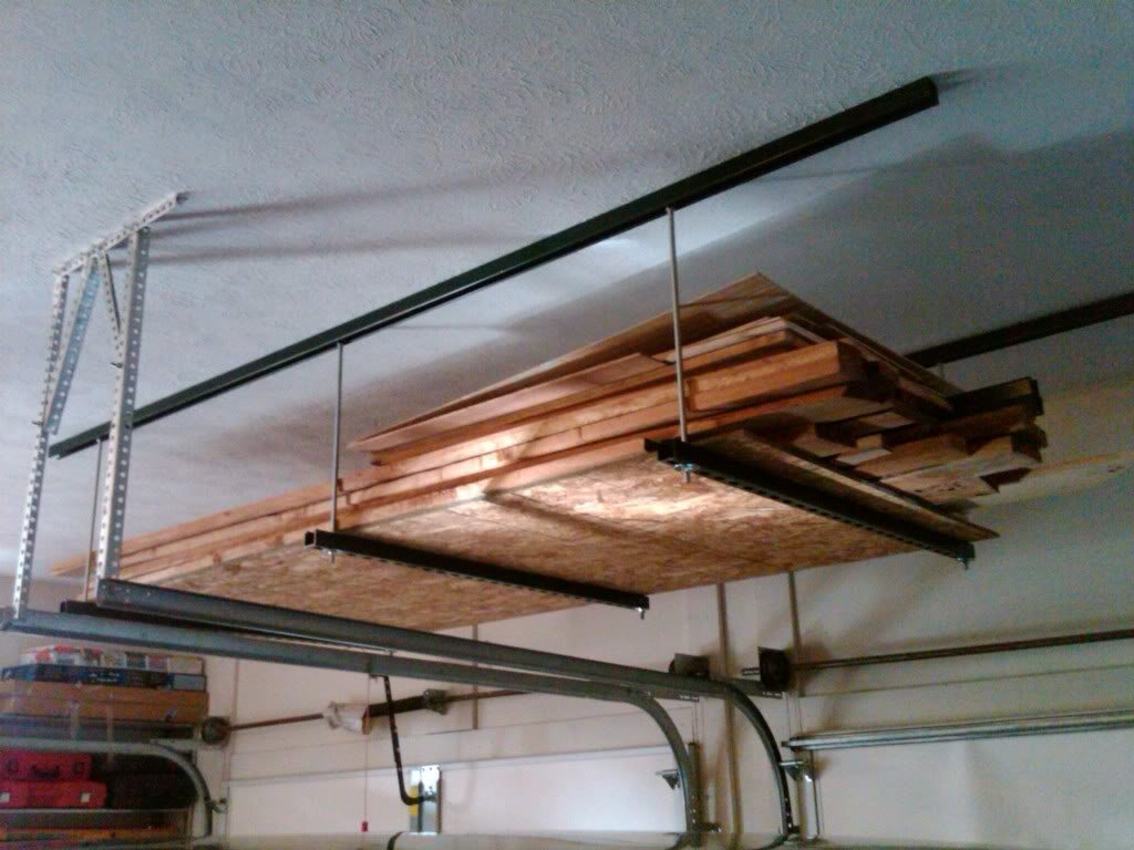 Donu0027t Have To Worry About Trying To Center Up A Lag Bolt In All The Joists  Too. Sort Of Like The Heater Hanging Below But Just Imagine Sheetrock Hung  Under ...