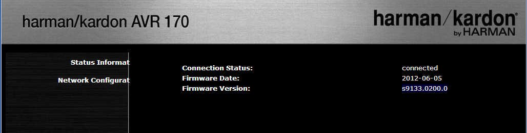 Harman Kardon AVR 1700 software update help - AVS Forum