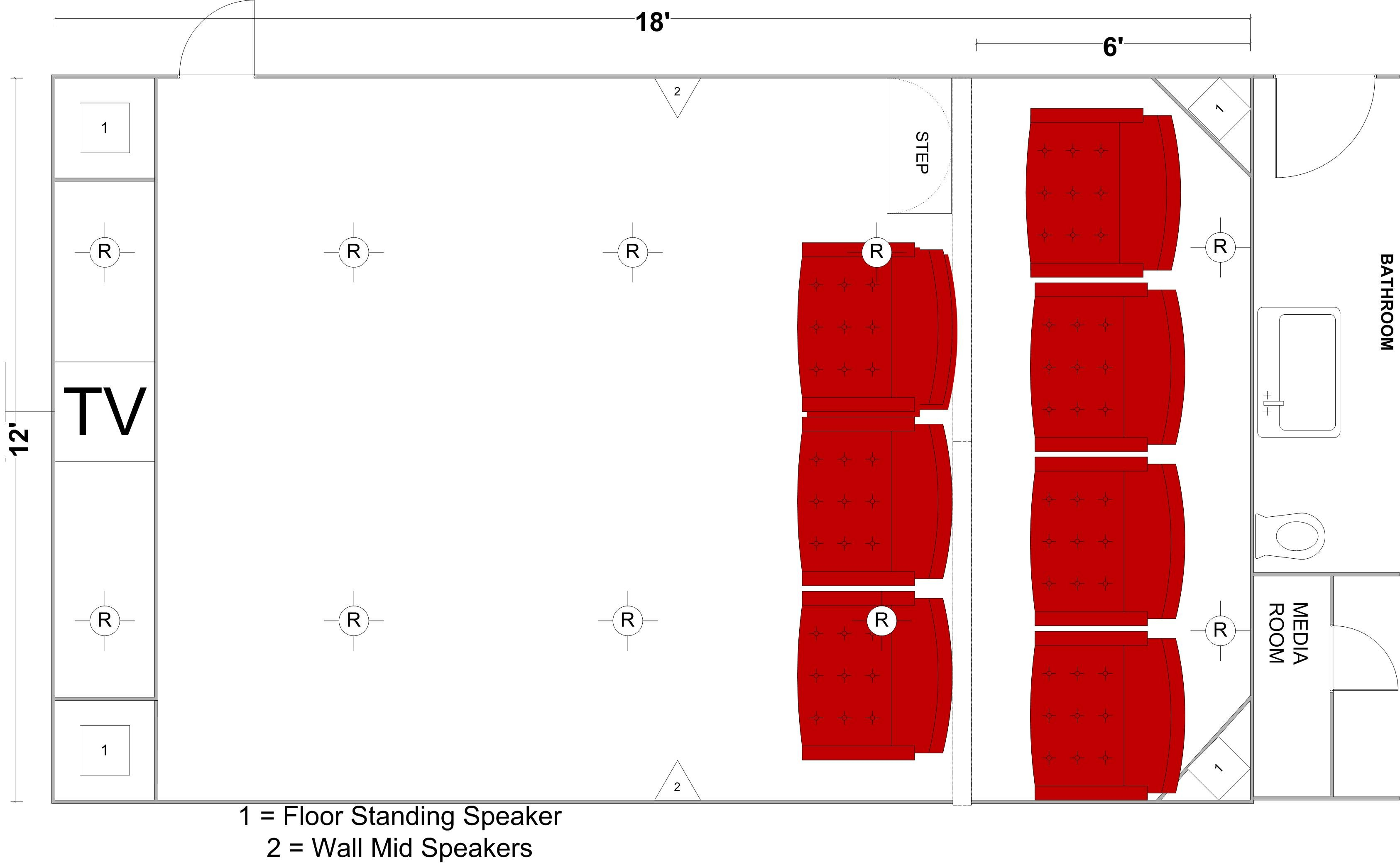 home theatre design layout. Home Theater Plans starting new home theater room project  operation what the hell Design Plans2 Intended For