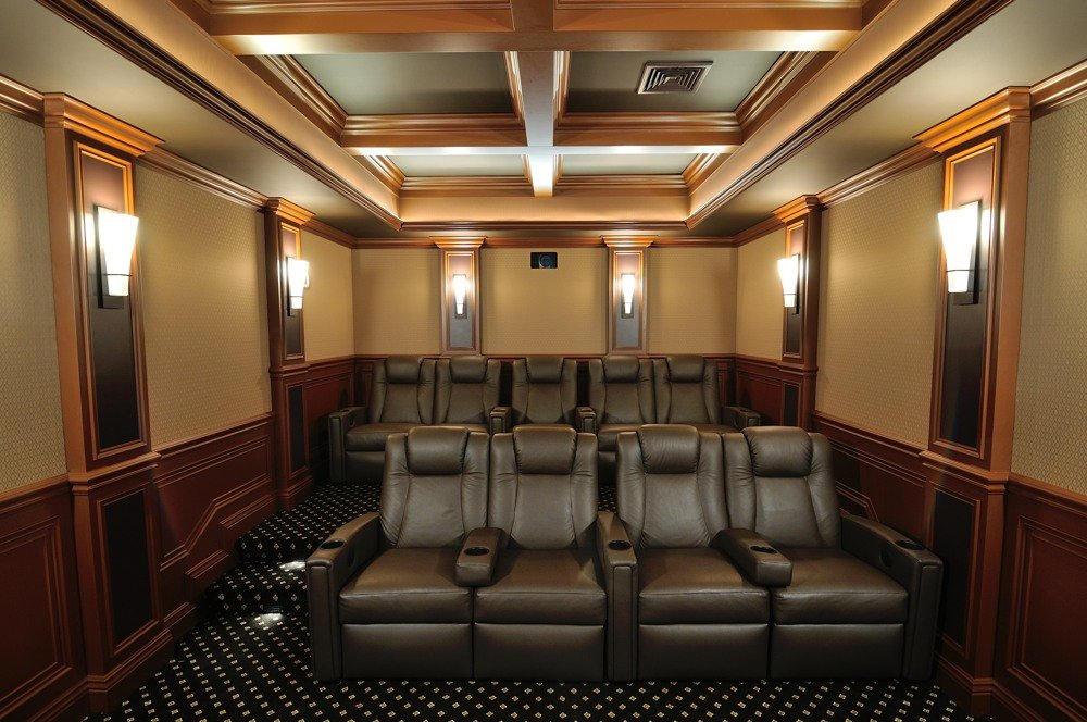 Obviously Some Compromises Were Made To Accommodate For Having 9 Seats In A Small E But This Theater Fit Into 12 6 X 20