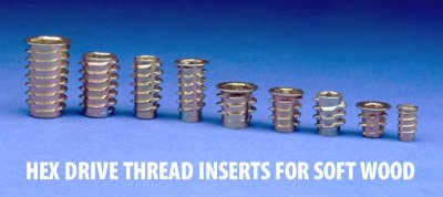 wood threaded inserts