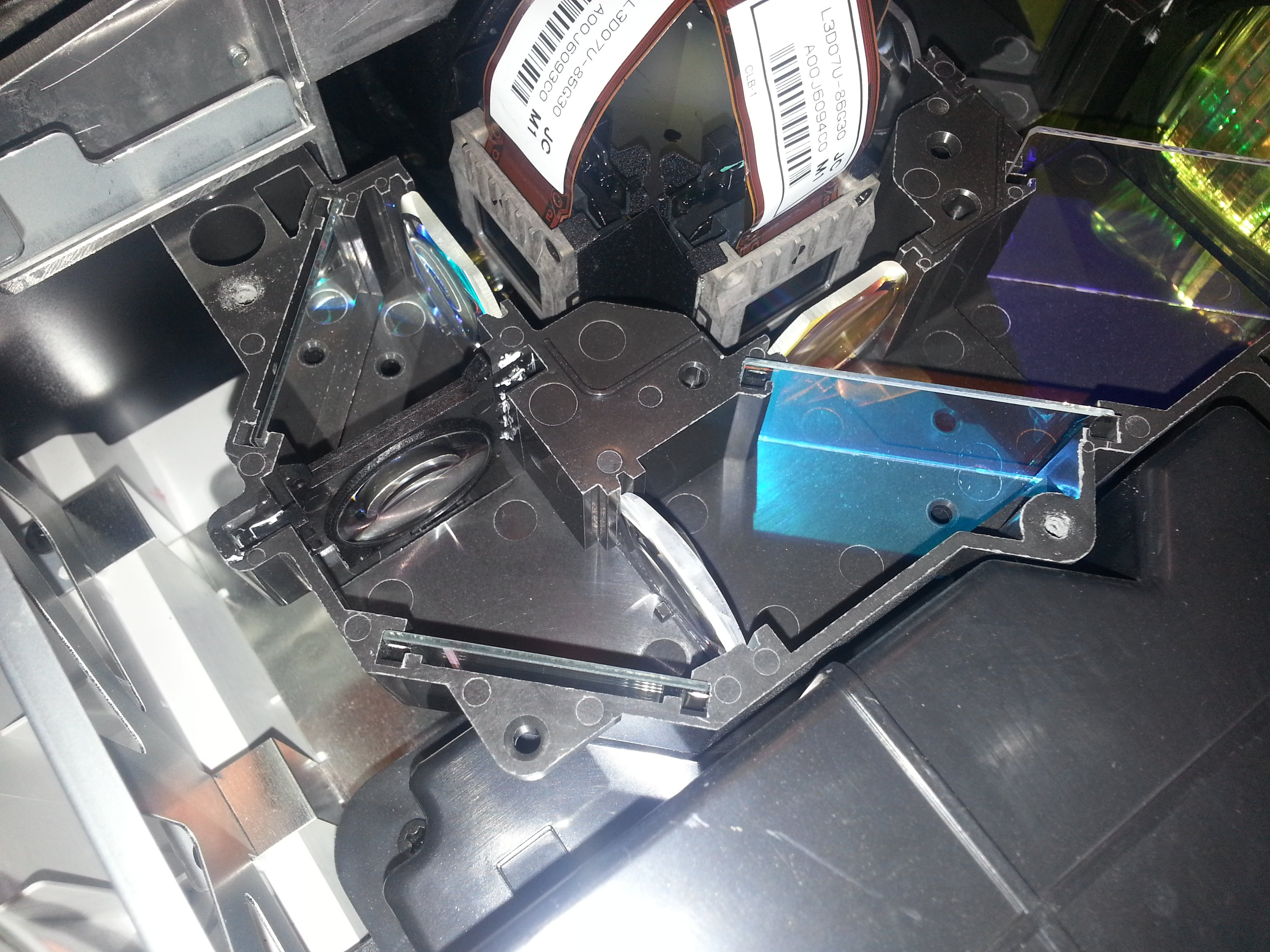 Epson 8100 - replaced bulb and now Pink / Blue bands - AVS