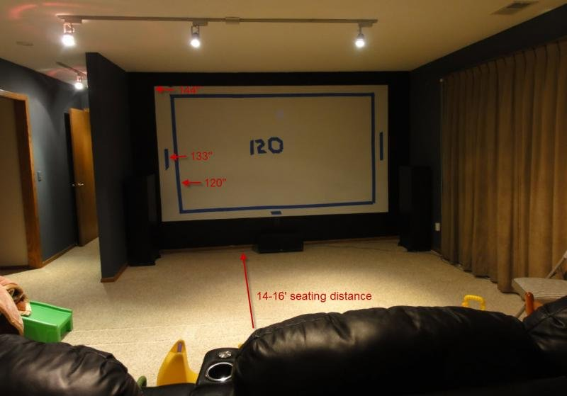 Screen Advice Please for a JVC RS45 or Epson 5020 (photo of room ...