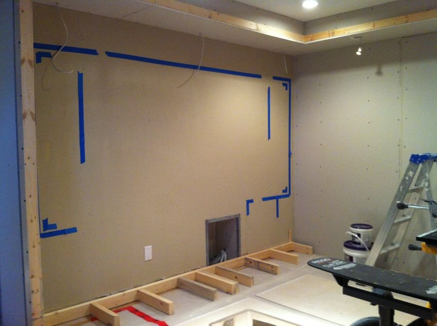 Also In This Photo Is The Partial Frame Of The Small Curved Stage That Many  Home Theater Owners Like So ...