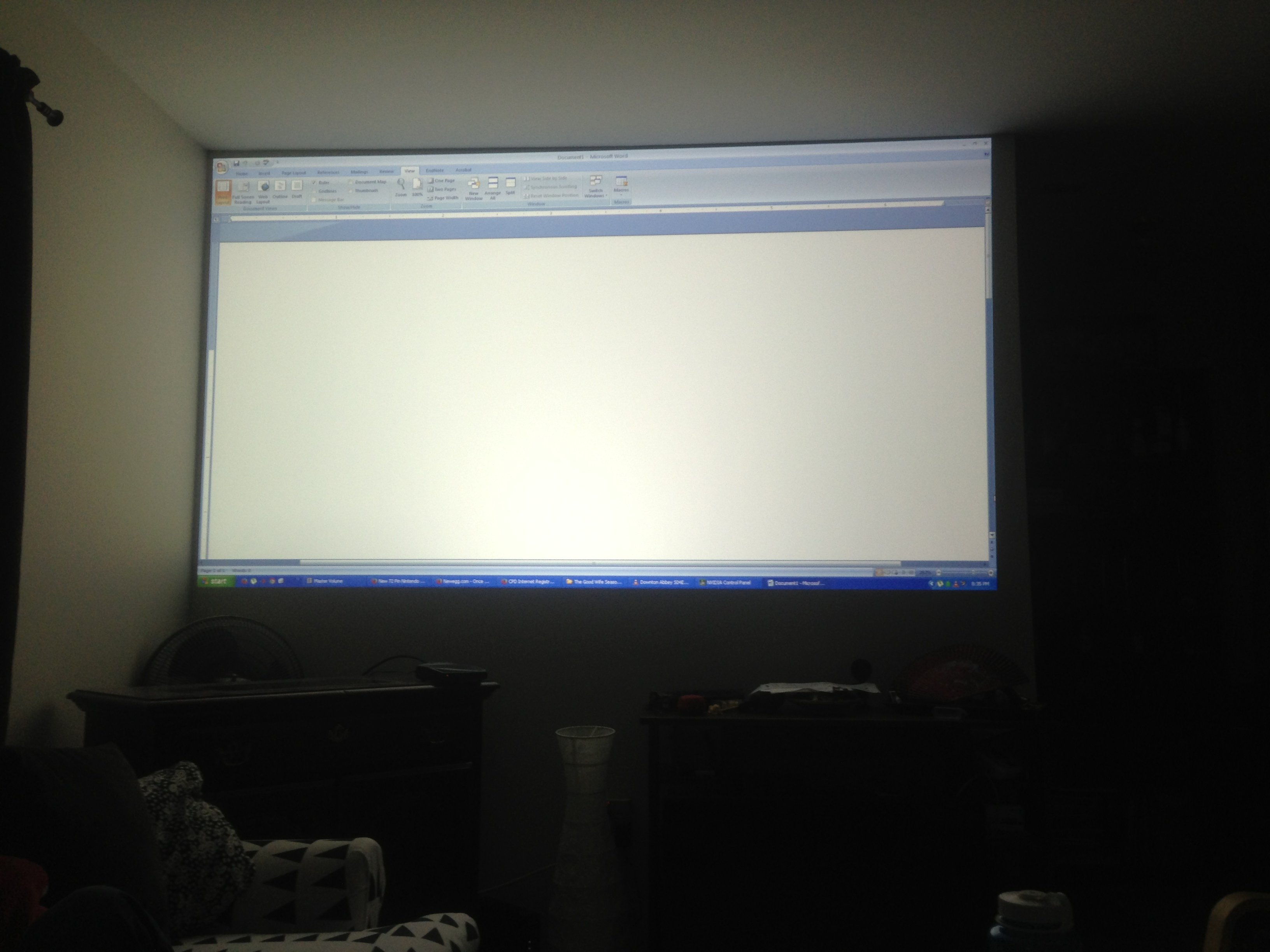 Uneven brightness distribution in Acer H6510BD, please advise - AVS