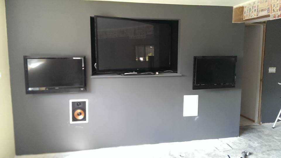 What To Put Behind Speakers In False Wall AVS Forum Home - Tv false wall