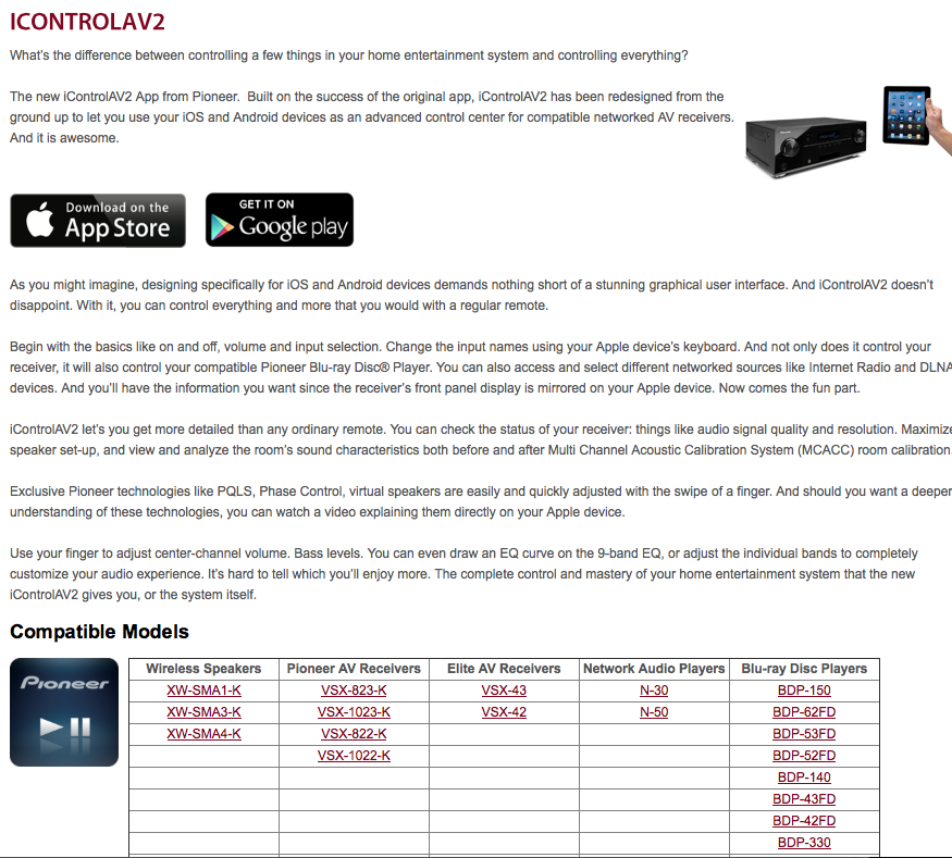 Pioneer ICONTROLAV2 Error Code B57113 and B47113 - AVS Forum | Home