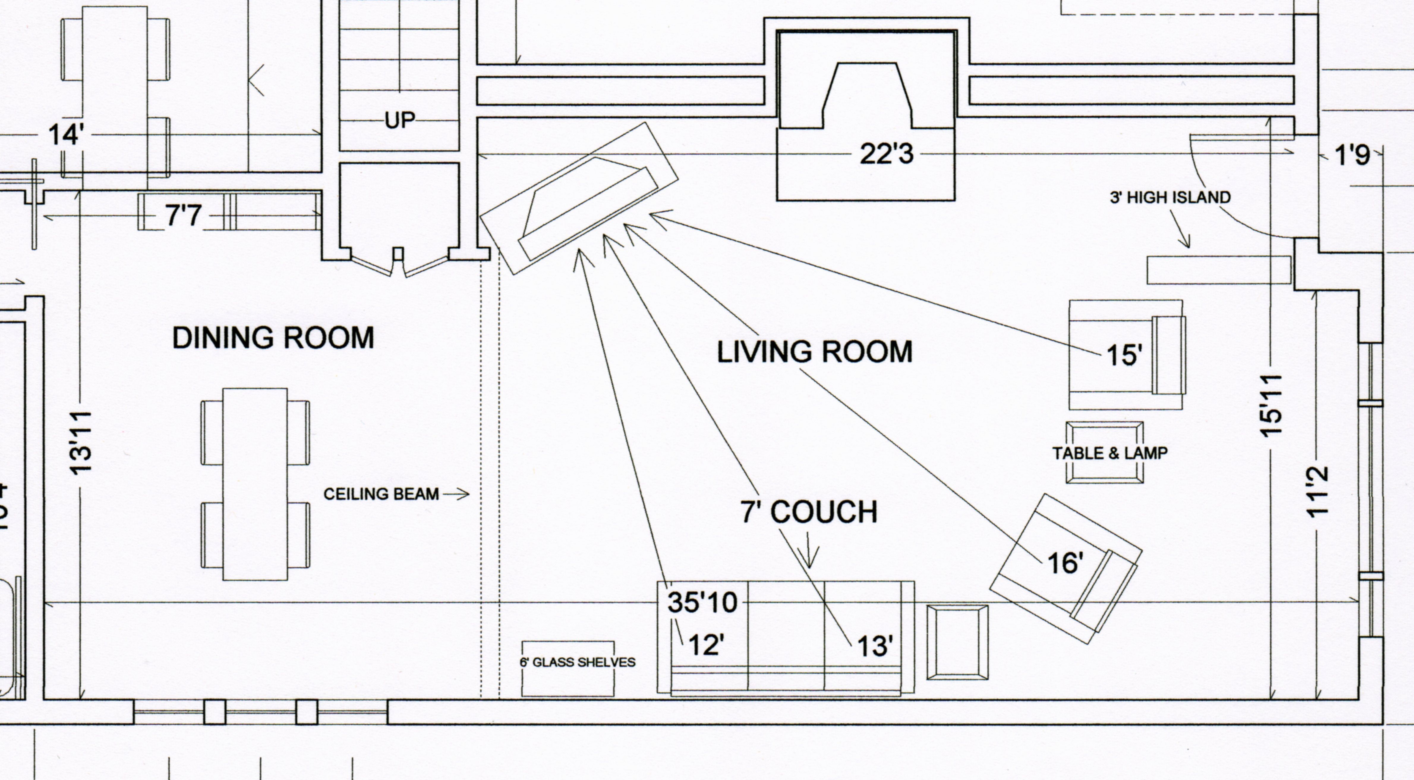 Exceptionnel Looking For Help Setting Up My Speakers.My Living Room Is (24u0027 X 16.5u0027 With  8u0027 Ceilings). If You Look At The Photo There Is Also An Open Area To The  Dining ...
