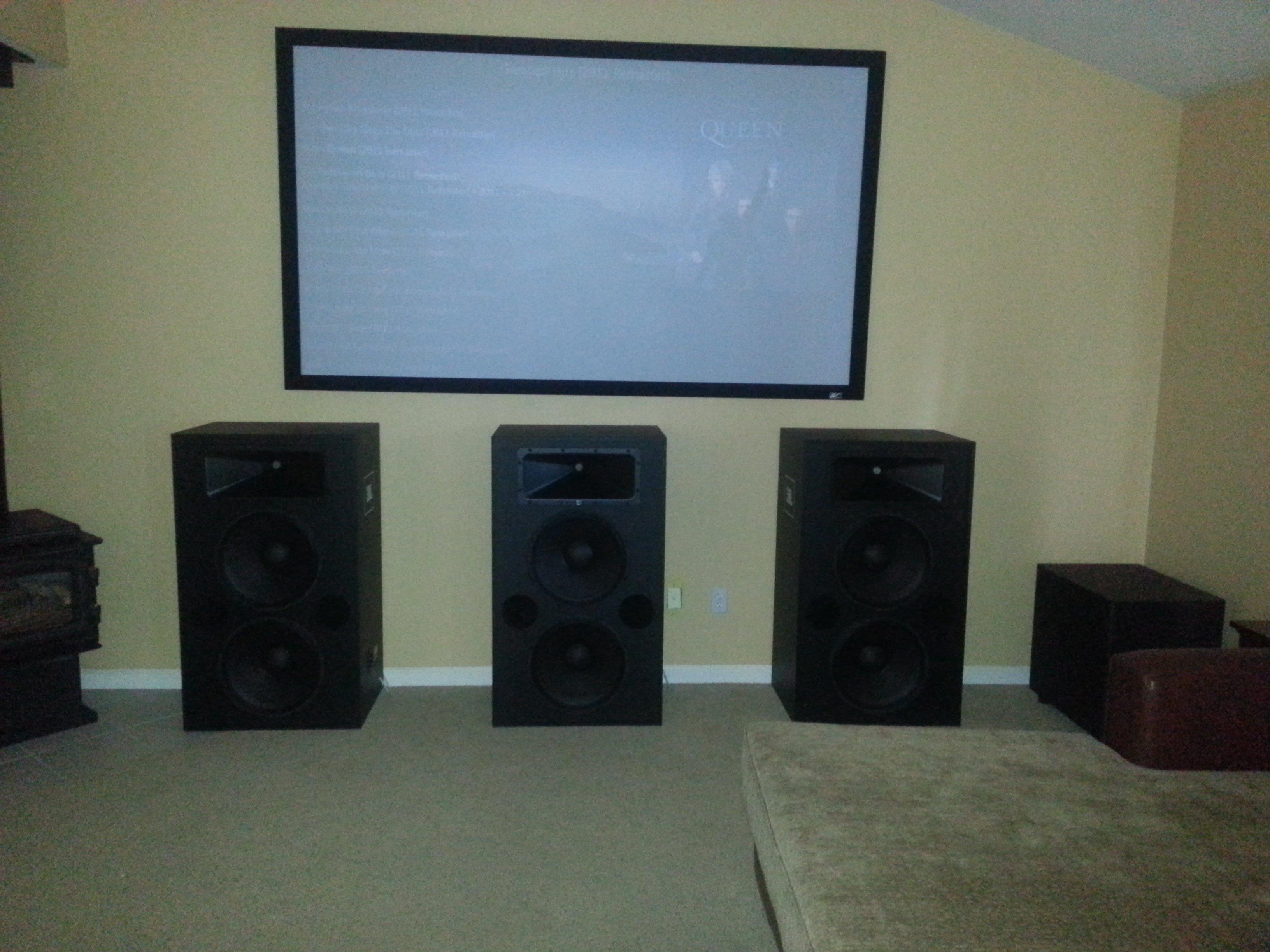 jbl home theater room. also one last comment, skylinestar had stated that all jbl pro cinema speakers terminal strips. this speaker uses binding posts. jbl home theater room e