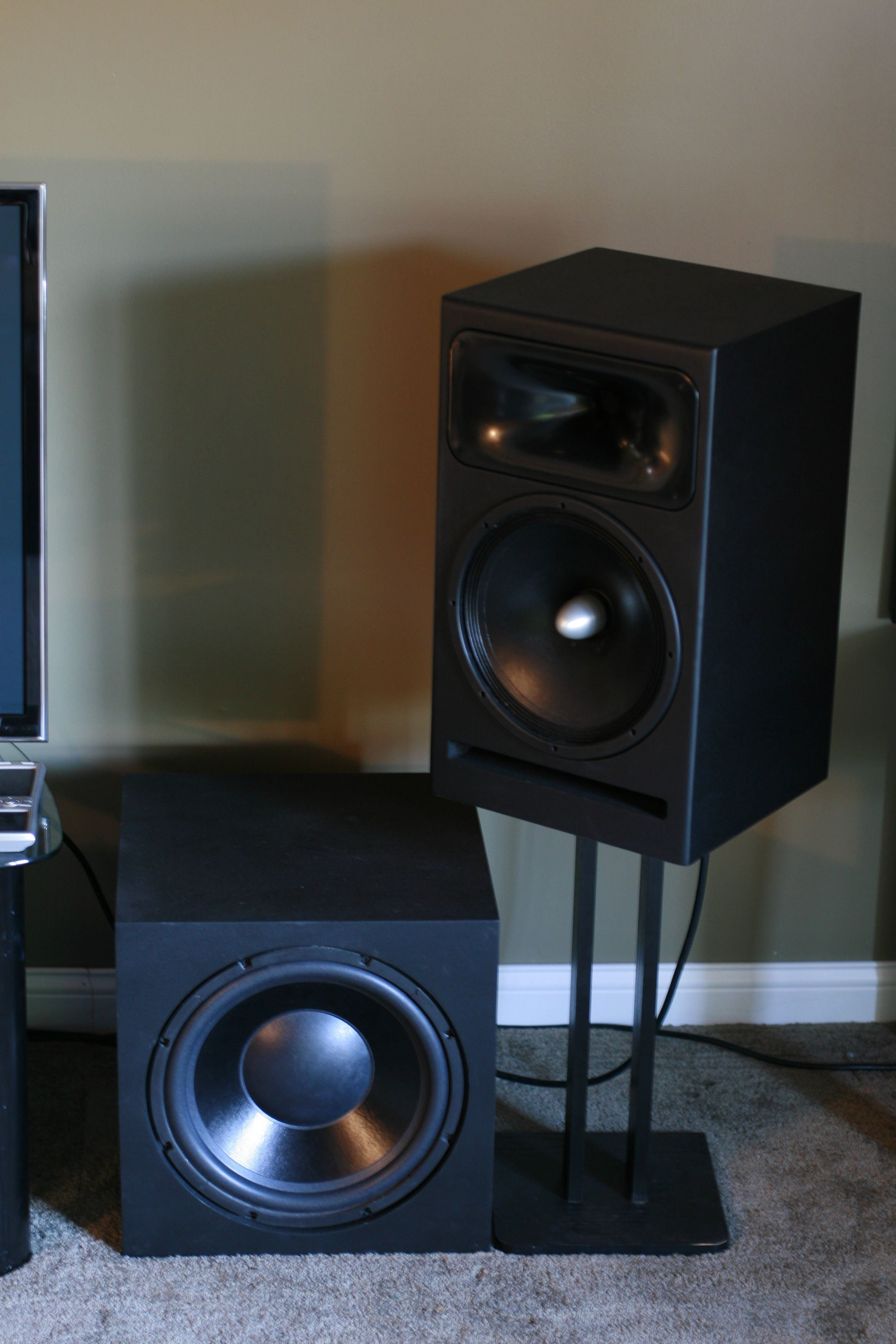 Completed right speaker and sub.