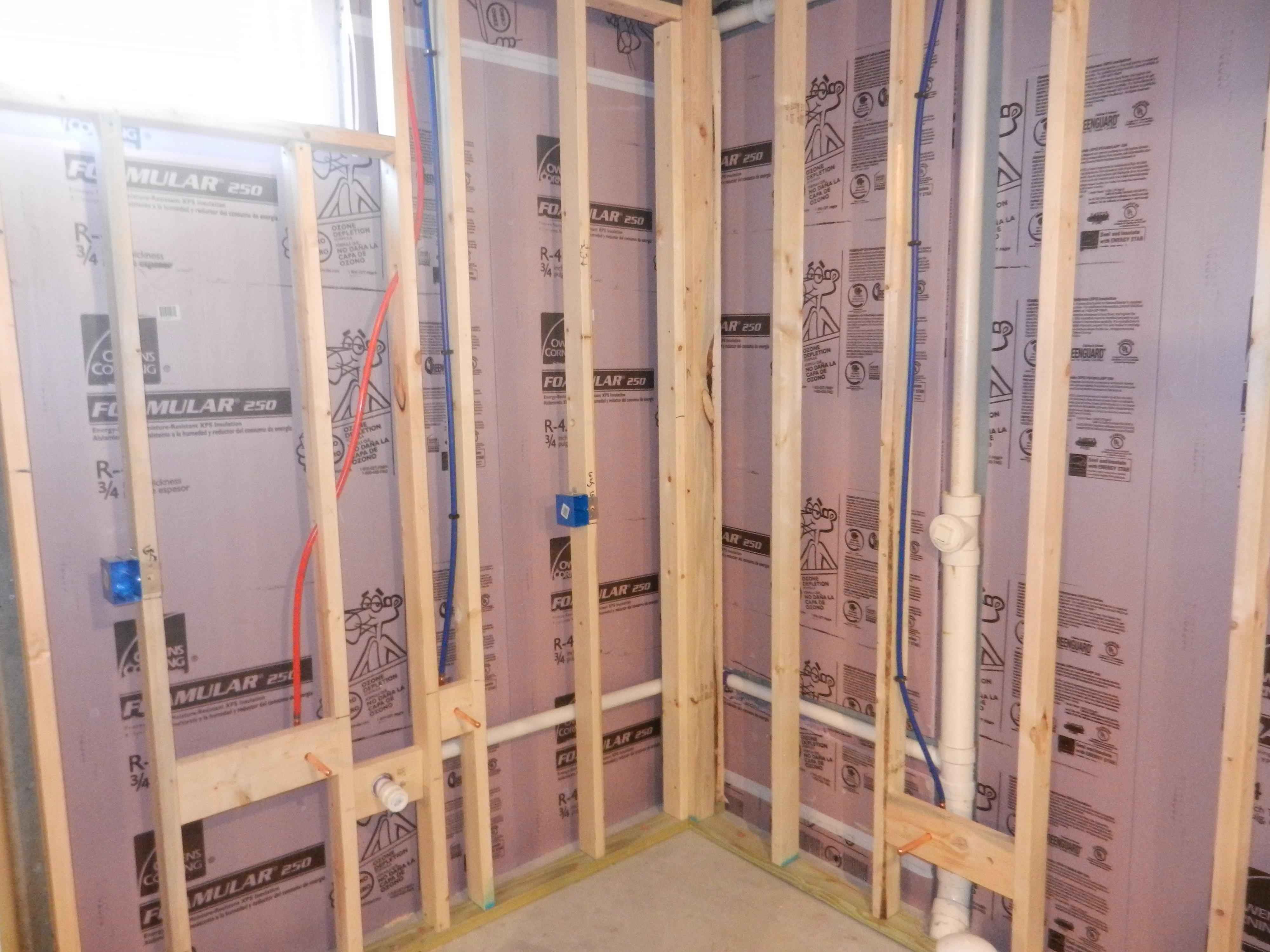 Bathroom Vanity Light Rough In djearl's basement build - page 2 - avs forum | home theater