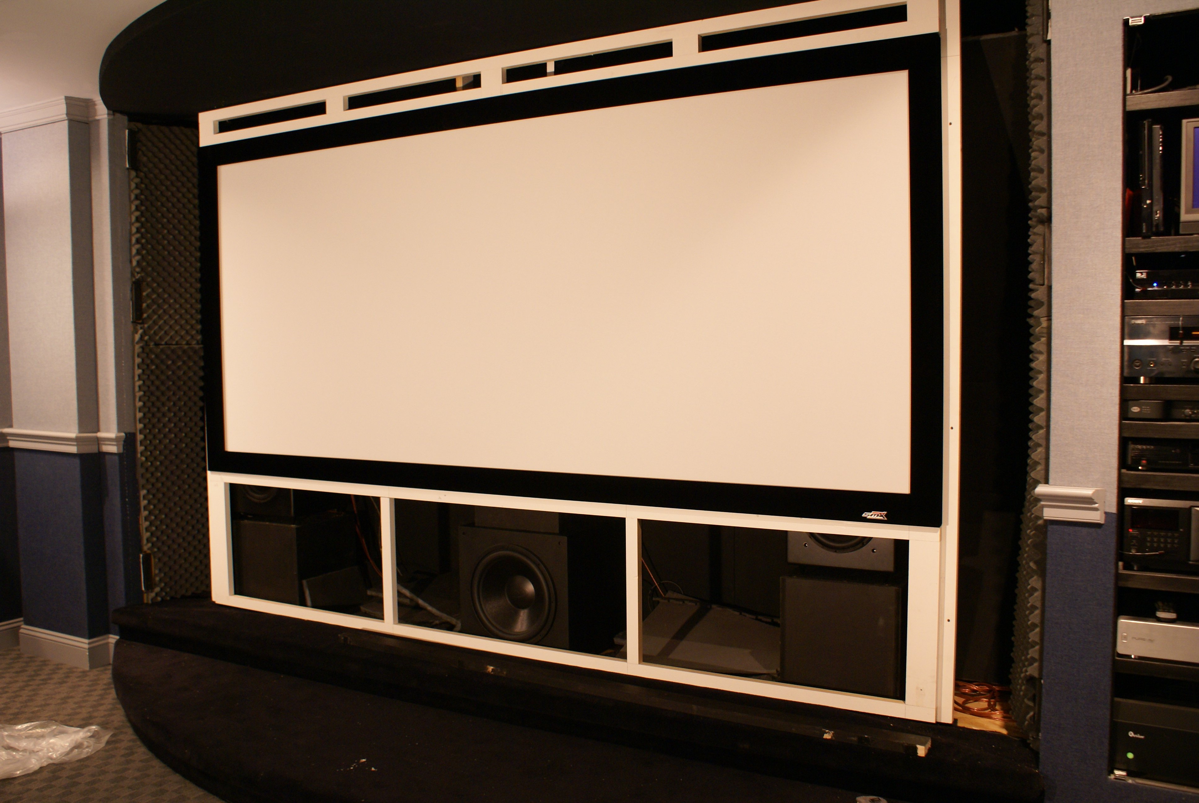 looking for at screen and front stage build threads avs forum home theater discussions and reviews - Home Theater Stage Design