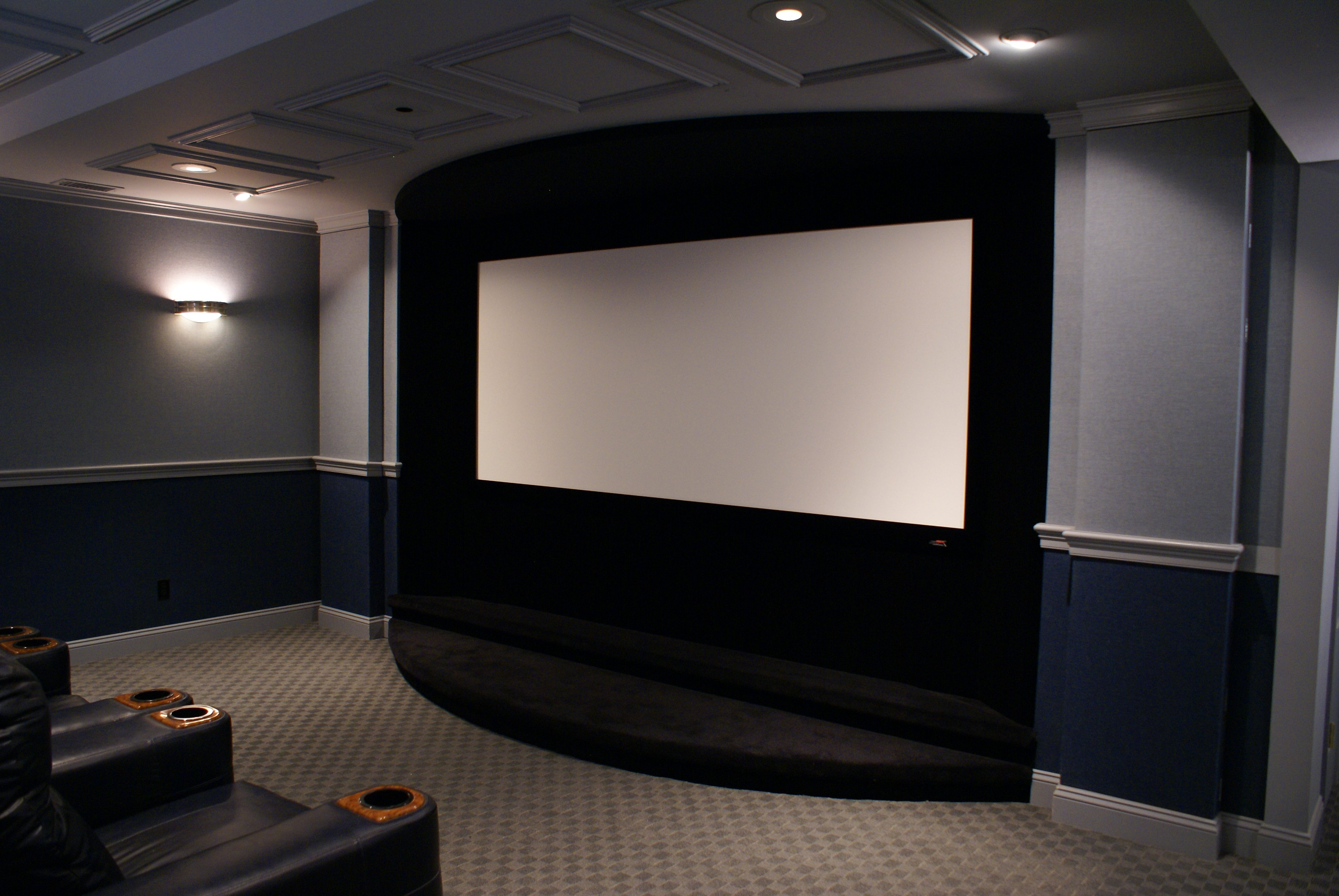 Home Theater Screen Wall Design Home Design Ideas