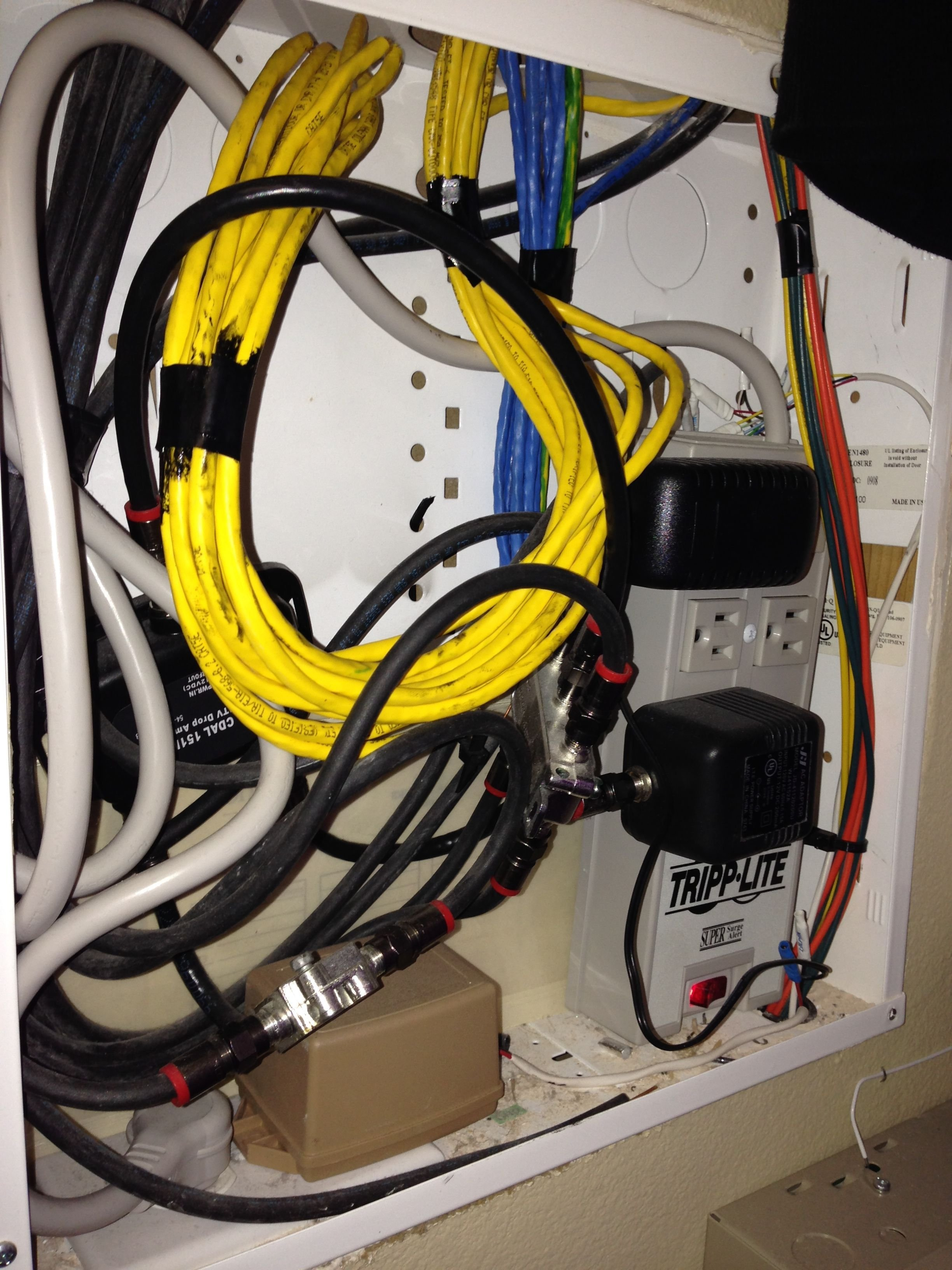 On Q Home System Totally Confused And Need Help Page 2 Avs High Performance Power Over Ethernet Injector By Legrand The Yellow Cat5 Cables Are Not Terminated Anything They Just Cut Off It Sounds Like I To Get This 8 Port Network Interface Module