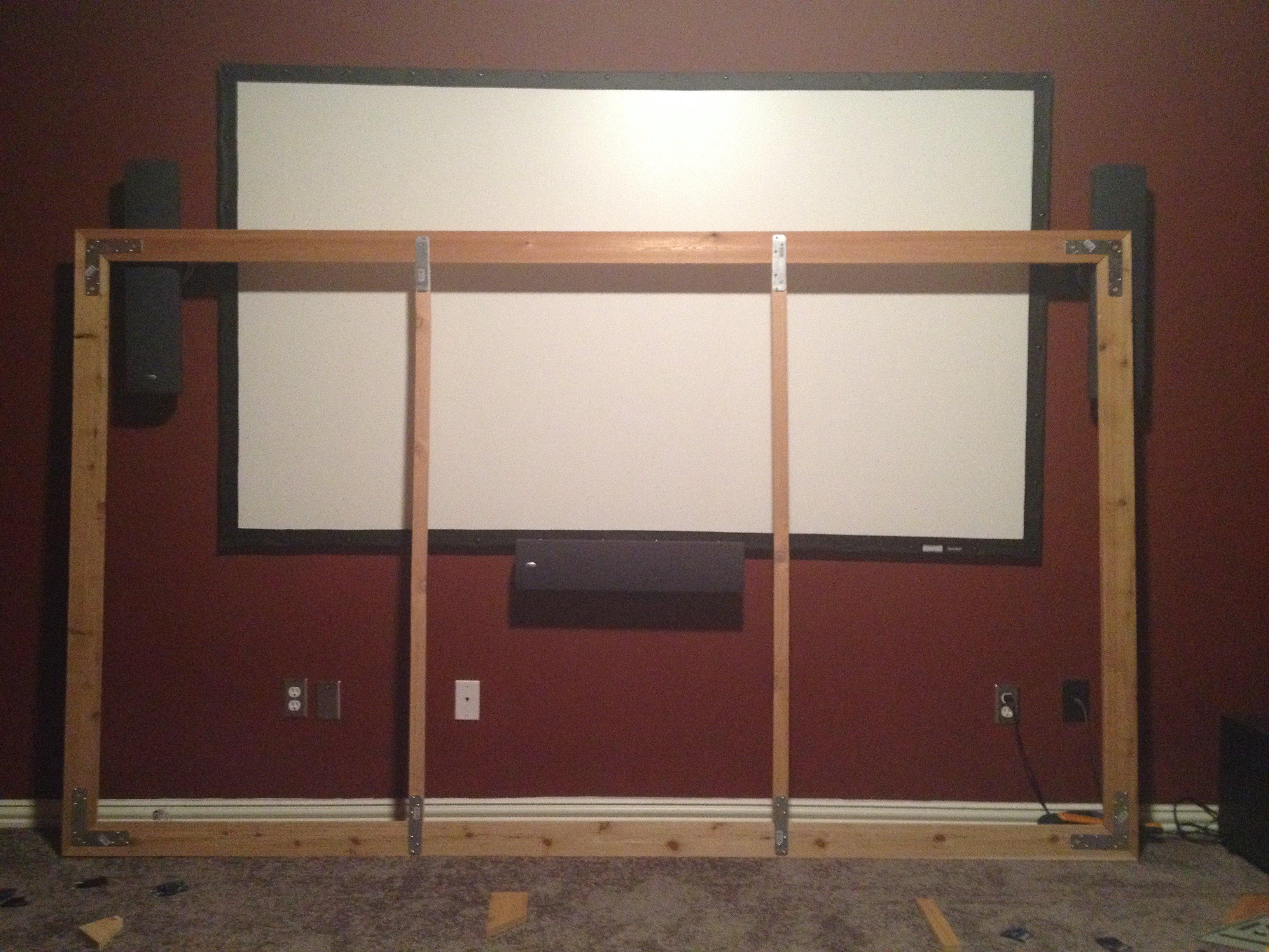 Decorative Custom DIY Projector Screen Frame - AVS Forum | Home ...