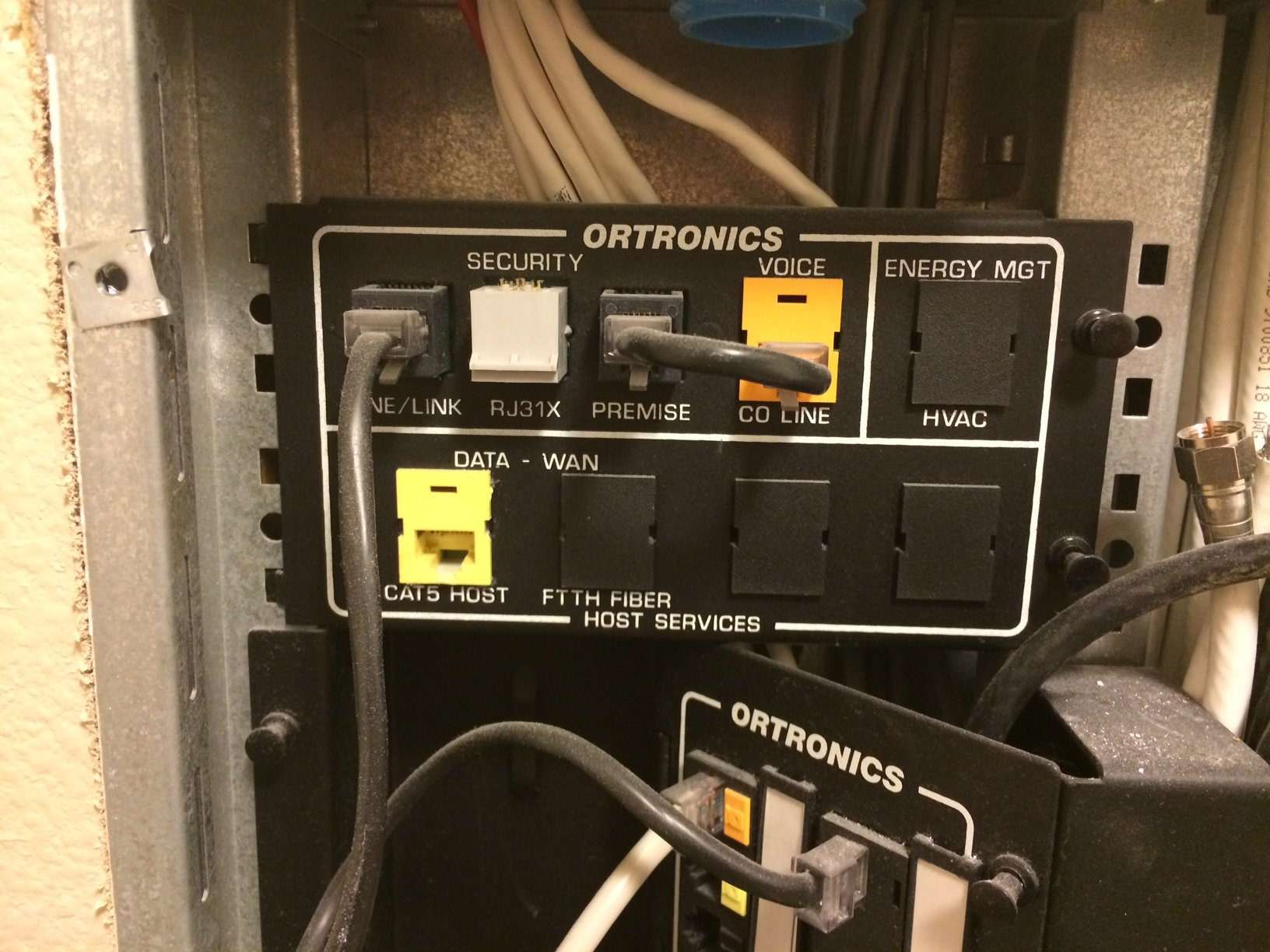 How Does Pre Wired Ethernet Work Page 3 Avs Forum Home Wiring House Patch Panel In The Laundry Room On Second Floor There Is A Junction Box That Has These Components Photos Are Ordered From Top Of To Bottom