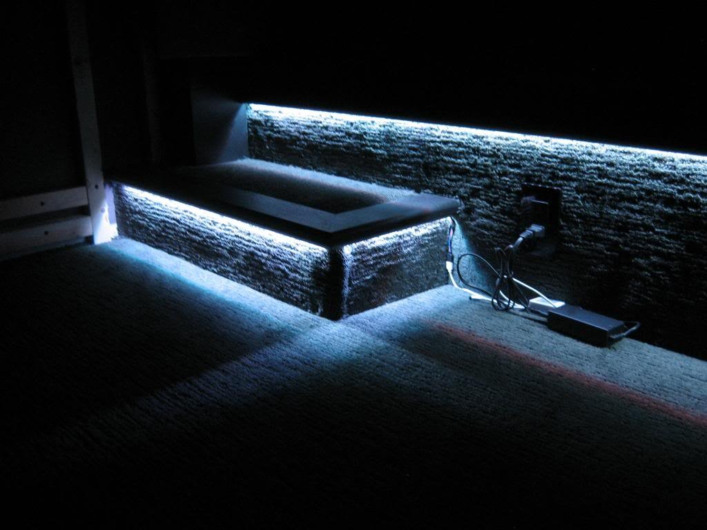 home theater step lighting. I Also Have Step Lighting That Can Turn On By Itself Does A Pretty Good Job Of The Room Enough To Walk Around. Home Theater S