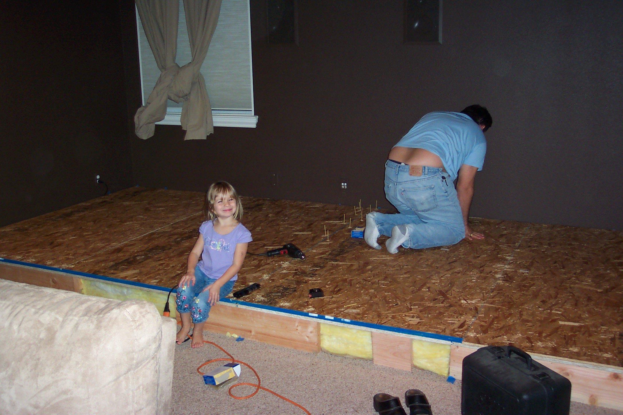 Riser construction 4 - installing floor