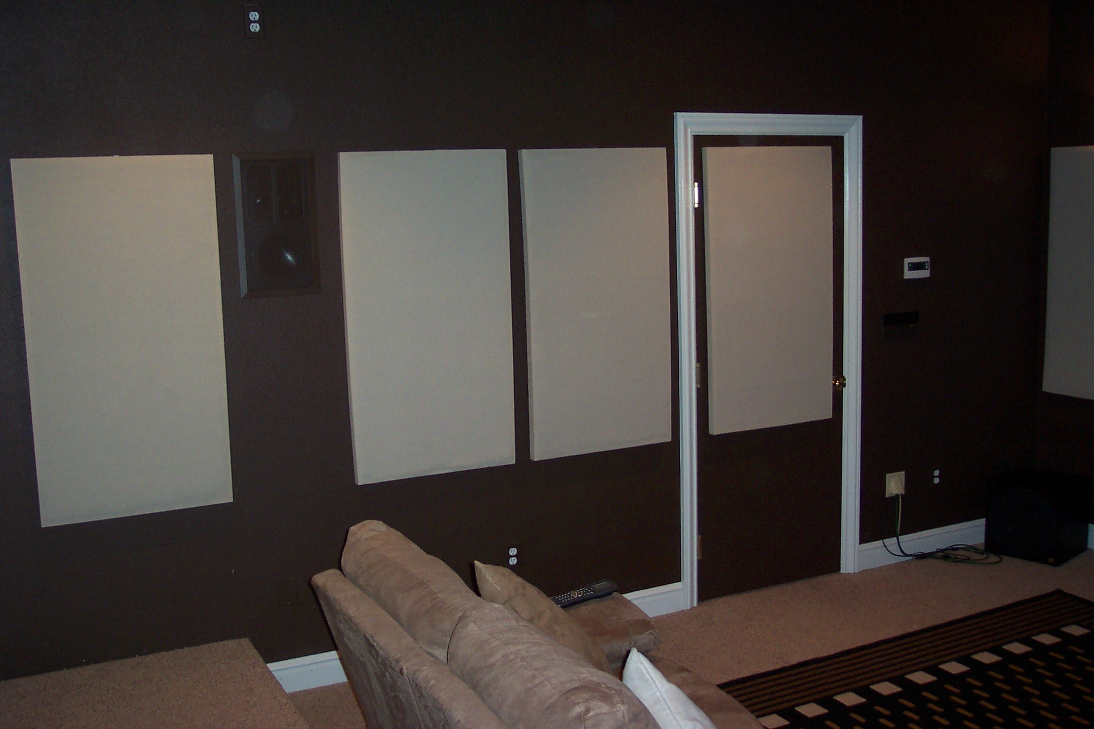 Acoustic treatments - right wall