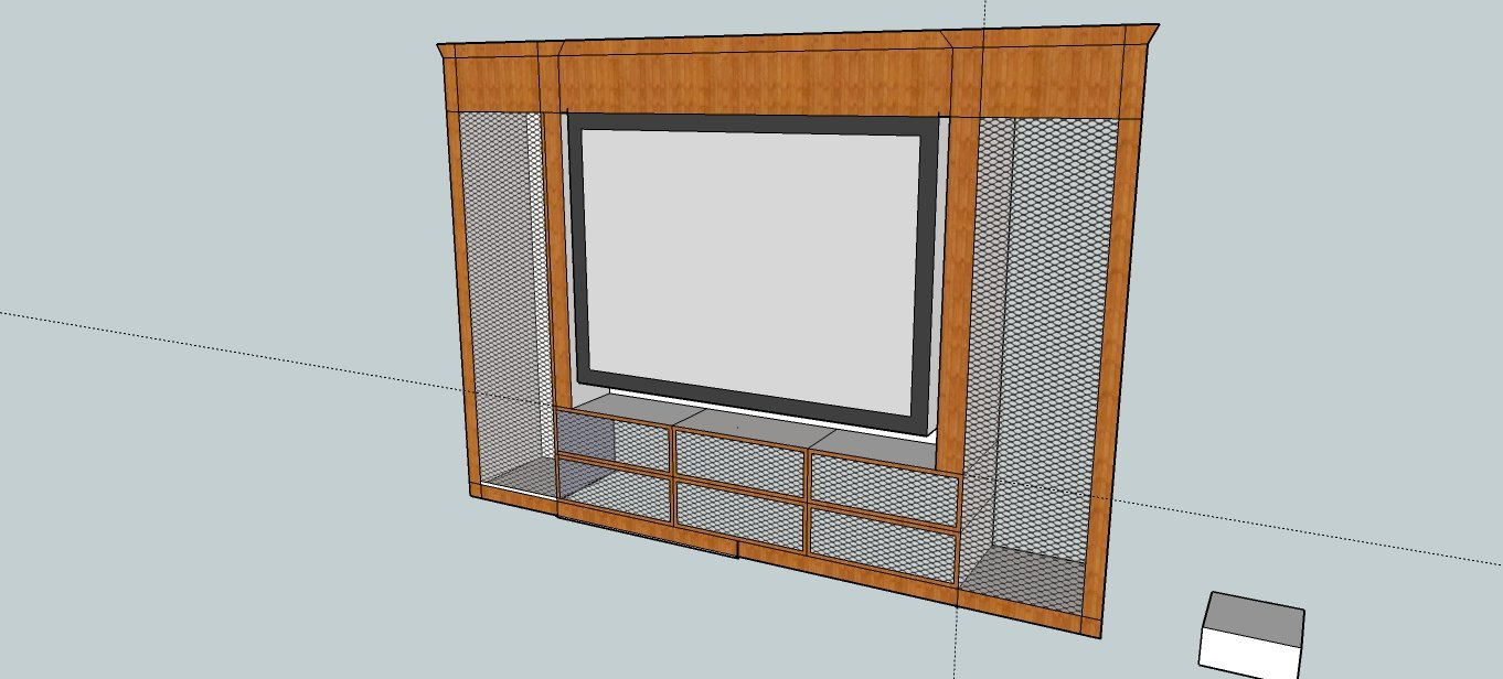 I Want To Have A Design That Incorporates My Floor Standing Speakers. The  Area To The Sides Will Be Cages With Speaker Cloth On Three Sides ...