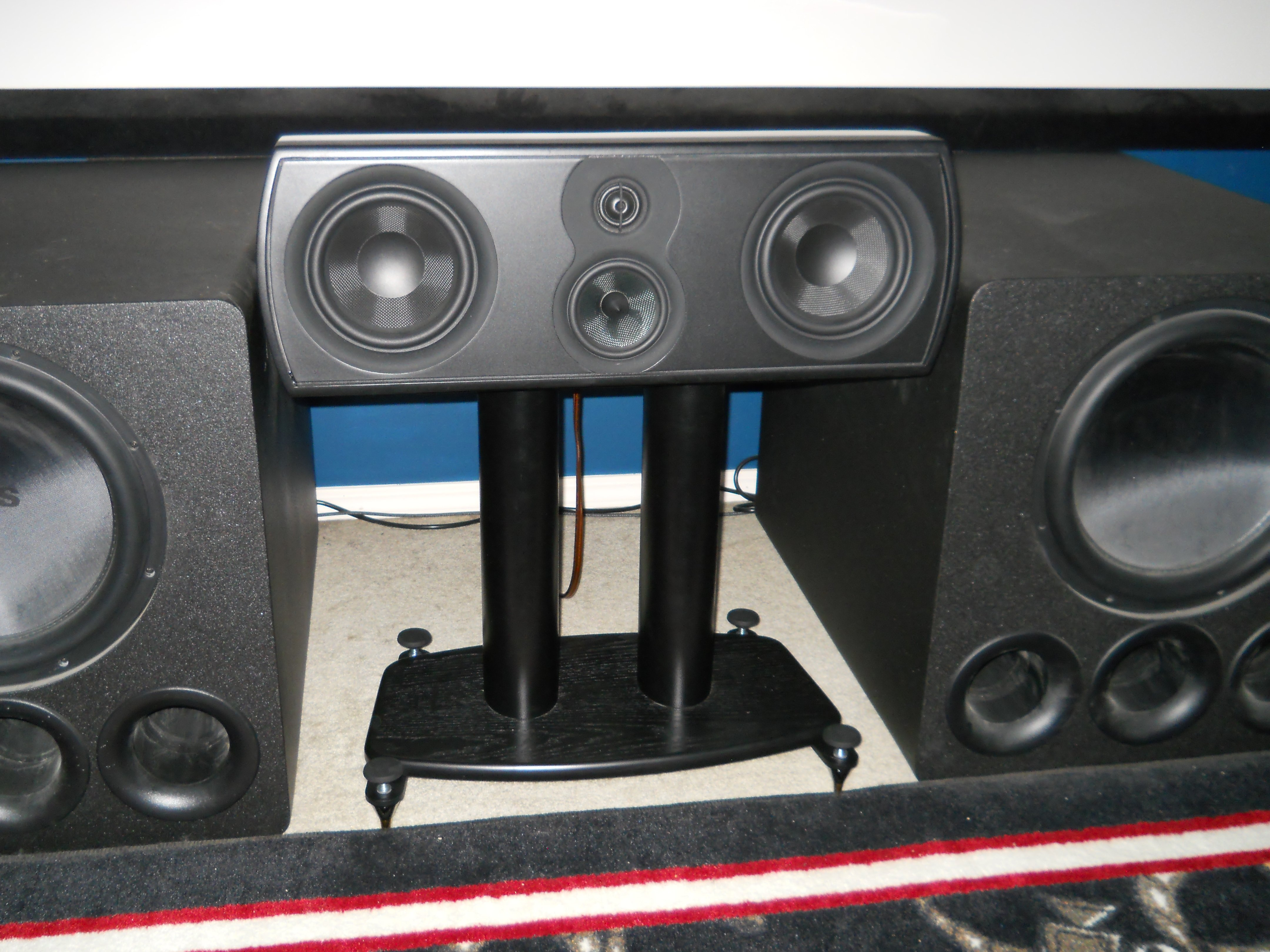 Aperion Verus Grand Center Bookshelf X 4 For Side And Back Surronds SVS PB13 Ultra X2 Oppo 103 Soudocity Outriggers The Towers
