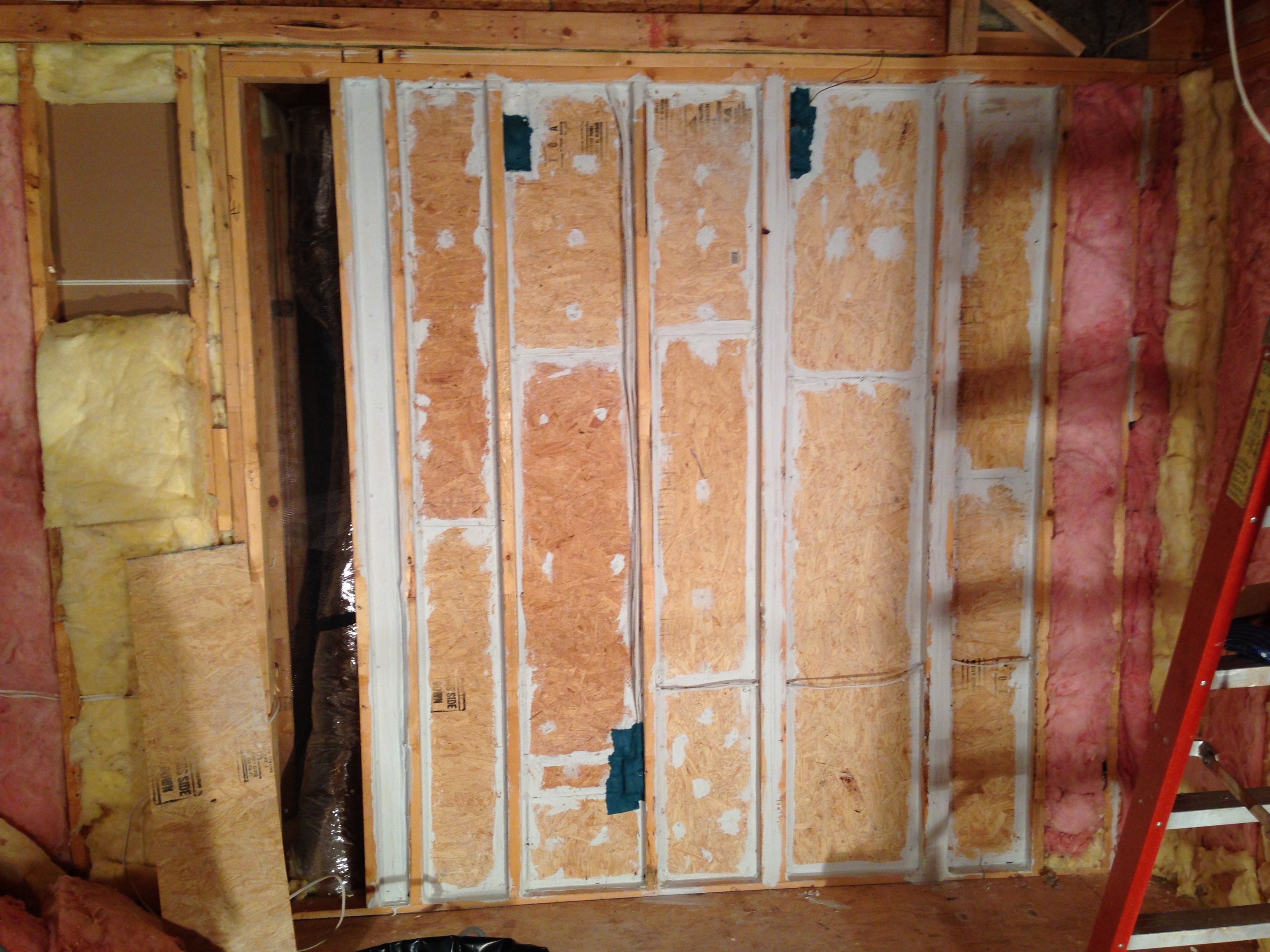 The Next Picture Shows The Installed Fiberglass Insulation