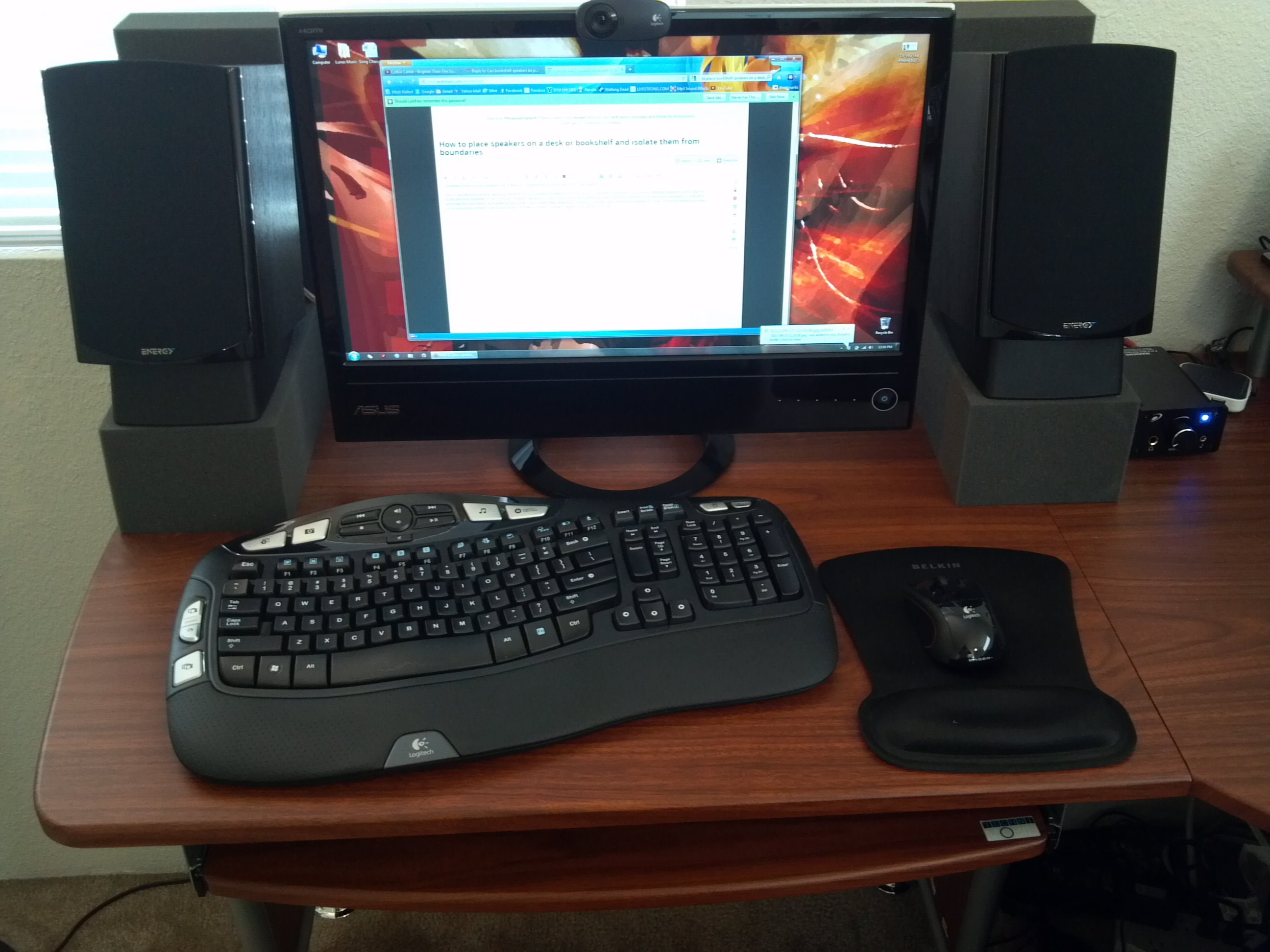 How To Place Speakers On A Desk Or Bookshelf And Isolate Them From Boundaries Avs Forum Home Theater Discussions Reviews